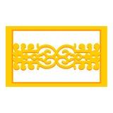 Lijn Chinese Kunst op witte achtergrond Royalty-vrije Stock Afbeelding