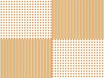 Lijn en gestippelde patroon abstracte geometrische oranje vector als achtergrond Stock Afbeelding