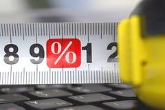 Lijn met een percententeken royalty-vrije stock afbeeldingen