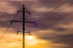 Lijn met hoog voltage Royalty-vrije Stock Afbeelding
