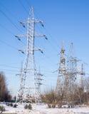 Lijn met hoog voltage Stock Foto
