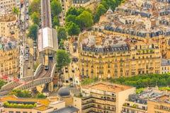 Lijn 6 Metro van Parijs royalty-vrije stock afbeelding