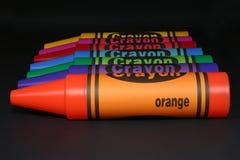 Lijn op kleurpotloden Royalty-vrije Stock Foto's