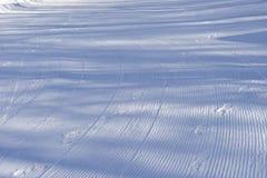 Lijn op sneeuw Royalty-vrije Stock Fotografie