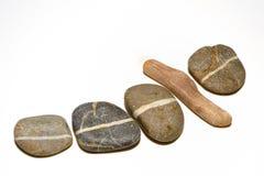 Lijn op stenen Royalty-vrije Stock Foto's
