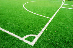 Lijn op voetbalgebied Stock Foto's