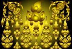 Lijn Thais goud Stock Foto's