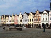 Lijn van barokke huizen met arcade Royalty-vrije Stock Foto
