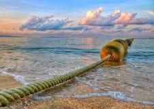 Lijn van boei op het overzees Stock Fotografie