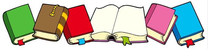 Lijn van boeken Stock Foto's