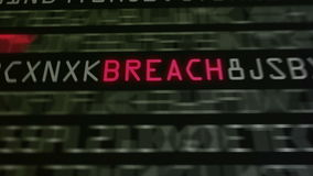 Lijn 2 van computerbeveiligingmodewoorden stock footage