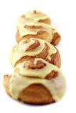 Lijn van de Broodjes van de Kaneel Royalty-vrije Stock Fotografie