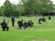 Lijn van de militairen van de Burgeroorlog van de Unie Stock Afbeeldingen