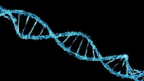 Lijn van de moleculealpha matte motie van Achtergrond de Digitale Binaire Vlechtdna 4k stock videobeelden