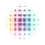 Lijn van de regenboog de Cirkelpunt Abstract en Kleurrijk concept Half t Stock Afbeelding