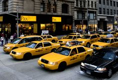 Taxis New York Stock Fotografie