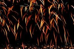 Lijn van het fonkelen van vuurwerk stock afbeelding