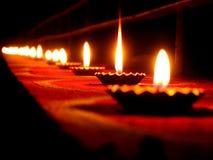 Lijn van Lampen stock fotografie