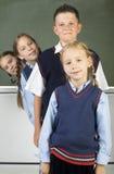 Lijn van leerlingen Royalty-vrije Stock Afbeelding