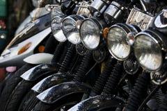 Lijn van Motorfietsen royalty-vrije stock foto
