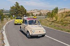 Lijn van uitstekend Fiat 500 Royalty-vrije Stock Foto
