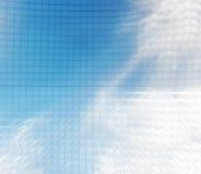 Lijn Vlotte blauwe abstracte achtergrond Royalty-vrije Stock Foto