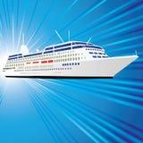 Lijnboot vector illustratie