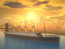 Lijnboot Stock Afbeelding