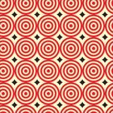 Lijncirkel met het Naadloze Patroon van de diamantvorm Stock Afbeeldingen