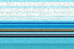 Lijnen Bellen blauwe fosforescerende abstracte achtergrond, ontwerp Royalty-vrije Stock Foto