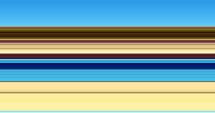 Lijnen Blauwe gouden beige bruine fosforescerende abstracte achtergrond, ontwerp Royalty-vrije Stock Foto's