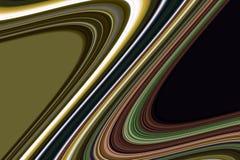 Lijnen Kleurrijke creatieve gouden grijze groene zilverachtige oranje donkere lijnen, speelse achtergrond stock afbeelding