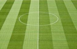 Lijnen op een voetbalgebied Royalty-vrije Stock Fotografie
