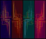 Lijnen op verticale achtergrond Stock Afbeeldingen