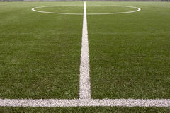 Lijnen op Voetbal/Futsal-Gebied stock afbeeldingen