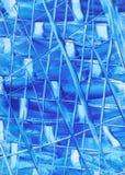 Lijnen van Blauwe Samenvatting Royalty-vrije Stock Foto's
