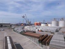 Lijnen van de de havensleep van Veracruz de rode en voorraden van ijzerbars royalty-vrije stock foto's