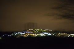 Lijnen van licht als achtergrond van de auto'skorrel Stock Afbeeldingen