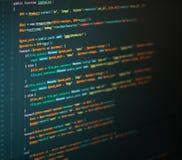 Lijnen van php codage op het scherm stock afbeeldingen