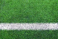 Lijnkanten van kunstmatige grasvoetbal & x28; soccer& x29; gebied royalty-vrije stock foto