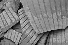 Lijnpatroon van gebroken aardewerken potdetails Royalty-vrije Stock Foto's