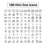 100 lijnpictogrammen royalty-vrije illustratie