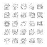 Lijnpictogrammen met Detail 5 Royalty-vrije Stock Foto's