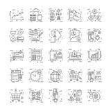 Lijnpictogrammen met Detail 15 Royalty-vrije Stock Foto