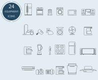 Lijnpictogrammen van huistoestellen Royalty-vrije Stock Foto