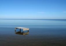 Lijst aangaande het strand Stock Afbeeldingen