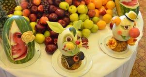 Lijst Art Fruit Cuisine stock afbeeldingen