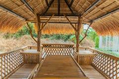 Lijst in bamboehut die wordt geplaatst Royalty-vrije Stock Foto