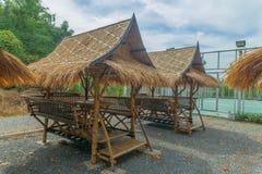 Lijst in bamboehut die wordt geplaatst Stock Fotografie