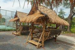 Lijst in bamboehut die wordt geplaatst Royalty-vrije Stock Afbeelding